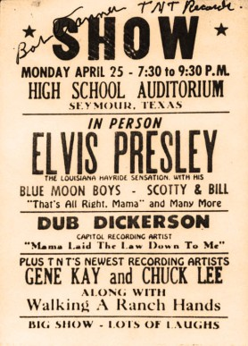 Elvis in Seymour poster