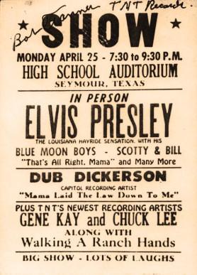 Elvis in Seymour poster