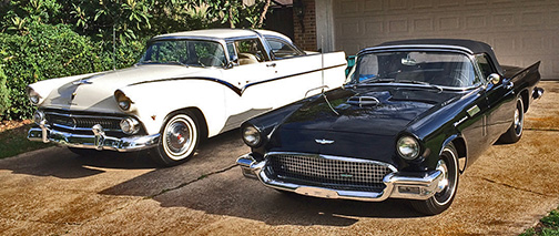 T-Bird and Crown Victoria
